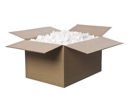 pappkarton: Open Cardboard Box mit Erdn�ssen