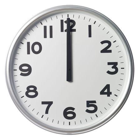 o�??clock: Las doce Foto de archivo