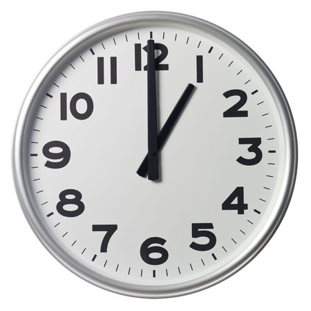 oclock: One OClock Stock Photo