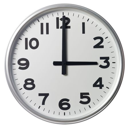 o�??clock: Tres son las
