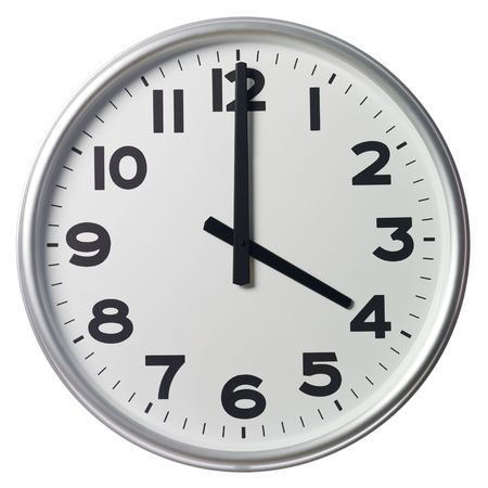 oclock: Four OClock Stock Photo