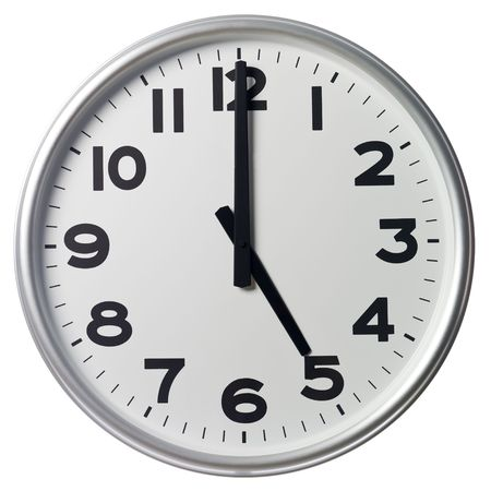 oclock: Five OClock Stock Photo