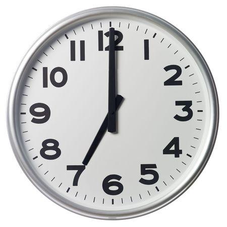 o�??clock: Siete son las Foto de archivo