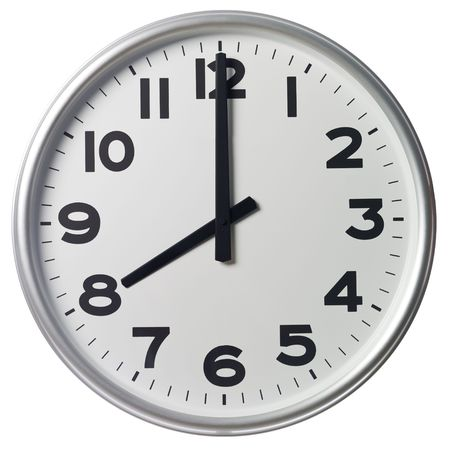 o�??clock: Ocho de la noche