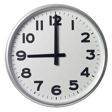 o�??clock: Las nueve Foto de archivo