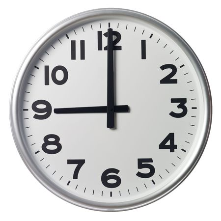oclock: Nine OClock Stock Photo