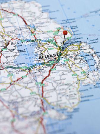Map of Belfast in Northern Ireland Stock Photo - 5375487