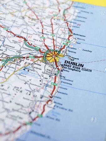 Map of Dublin Stock Photo - 5375486