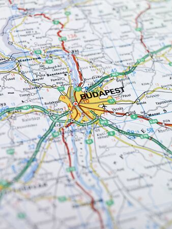 Map of Budapest Stock Photo
