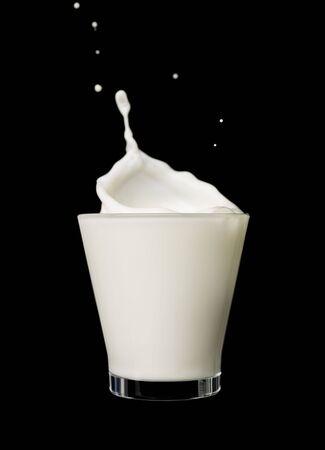Splashing milk photo