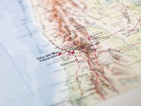 Map of Santiago de Chile Stock Photo - 5468017