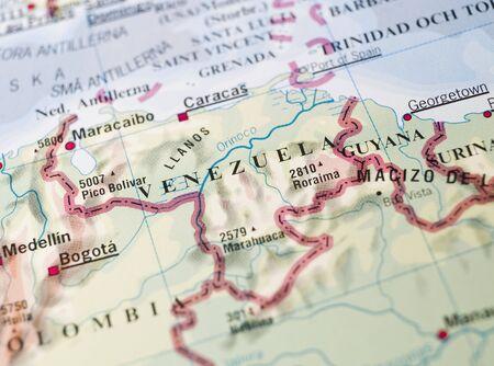 mapa de venezuela: Mapa de Venezuela  Foto de archivo
