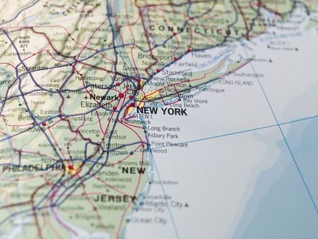 north america map: Map of New York Stock Photo