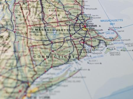 Map of Boston Stock Photo