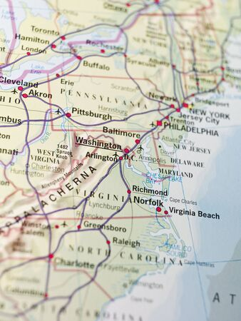pittsburgh: Map of Washington Stock Photo