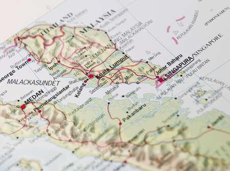 Map of Kuala Lumpor Stock Photo