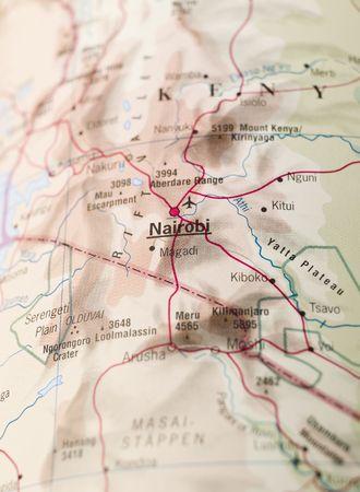 Map of Nairobi Stock Photo - 5468043