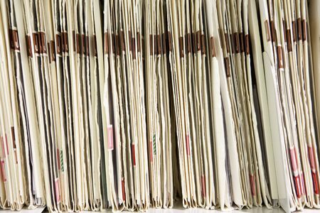 Files organized on shelf Stock Photo - 5507548