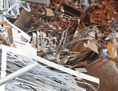 scrap metal: Arrugginito rottami metallici in un Sylvester