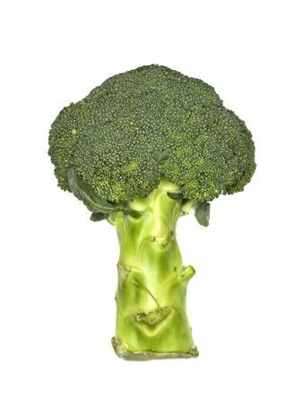 Fresh broccoli isolated on a white background photo