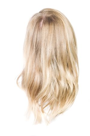 Blone hair isolated on a white background photo