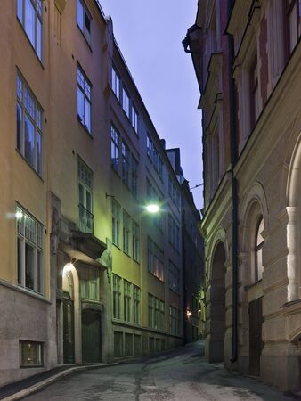 Colorful back alley in the southern parts of Stockholm photo