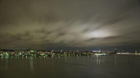 Stockholm City skyline at night photo