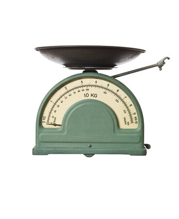 Retro weight scale isolated on a white background Stock Photo - 6141305
