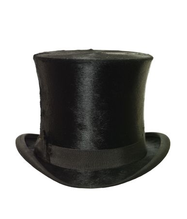 stovepipe hat: Top Hat isolated on white background Stock Photo