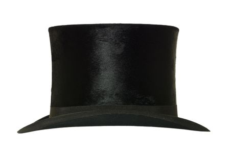 Top Hat isolated on white background photo
