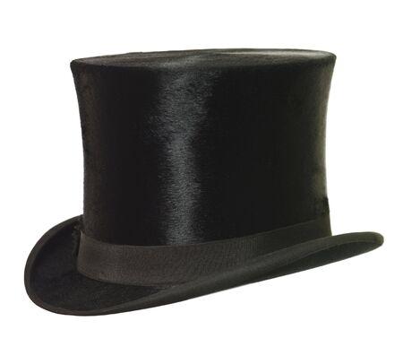 top hat: Top Hat isolated on white background Stock Photo