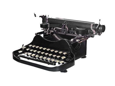 Vintage typewriter isolated on white background Stock Photo - 6504834