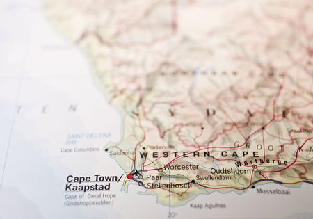 Map of Cape Town in South Africa photo