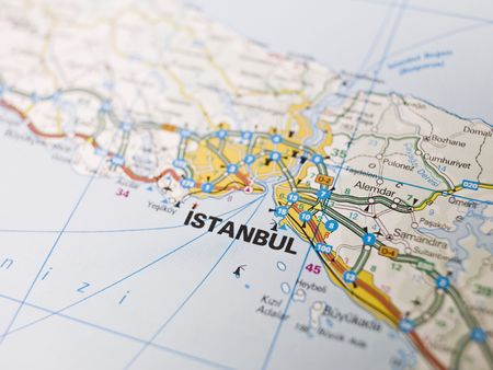 Map of Istanbul in Turkey photo