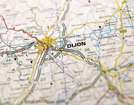 Map of Dijon in France photo