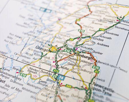 Map of Edinburgh in Scotland photo