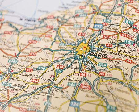 Map of Paris in France photo
