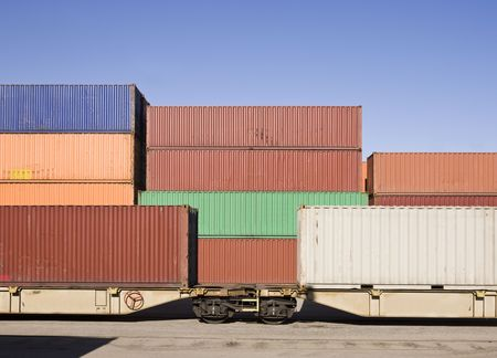 loaded: Cargo Containers waiting to be loaded