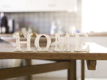 Home Decoration: Home with antique letters in foreground of an interior