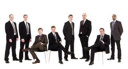 Group of management men isolated on white background Stock Photo - 6877909