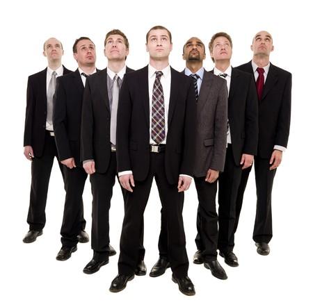 Confident team isolated on white background photo