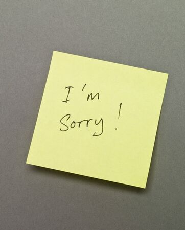 """Adhesive Note with """"I`m Sorry"""" wrote on it"""