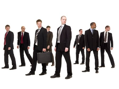Group of businessmen isolated on white background photo