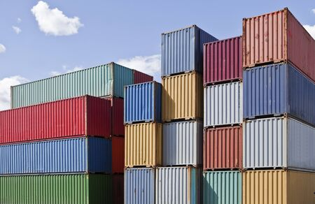 intermodal: Cargo Containers at a dock