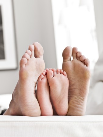 foot girl: Adults and Childrens sole of feets