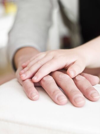 Adults and Childs hand Stock Photo - 7199429