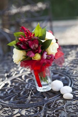short focal depth: Wedding bouguet with short focal depth