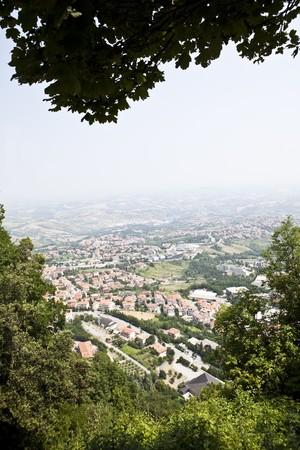 sammarinese: Vista dalla collina di San Marino