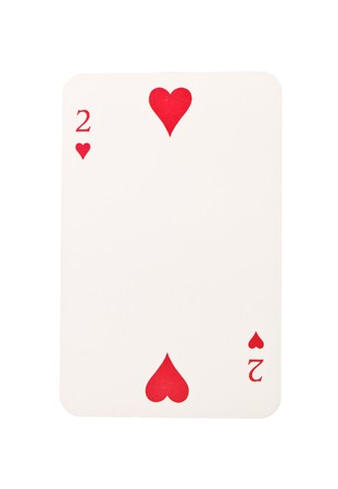 Two of hearts isolated on white background Stock Photo - 7570062