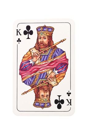 König von Clubs isolated on white background